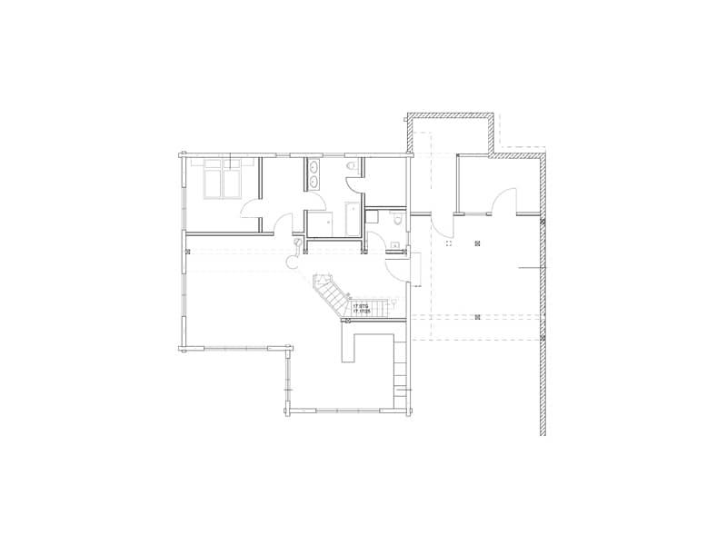 Grundriss Erdgeschoss Entwurf Elzruhe von Fullwood