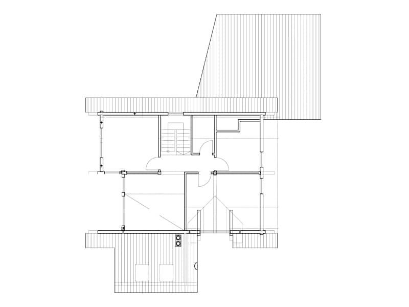 Grundriss Dachgeschoss Haus Fränkische Kiefer von Fullwood
