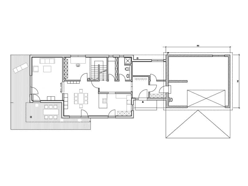 Grundriss Erdgeschoss Entwurf Dreher von Sonnleitner