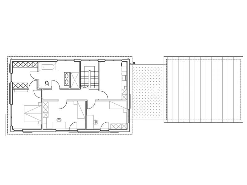 Grundriss Obergeschoss Entwurf Dreher von Sonnleitner