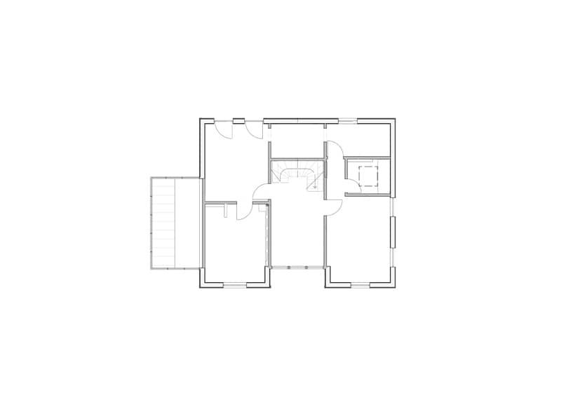 Grundriss Obergeschoss Haus Silberweide von Stommel Haus