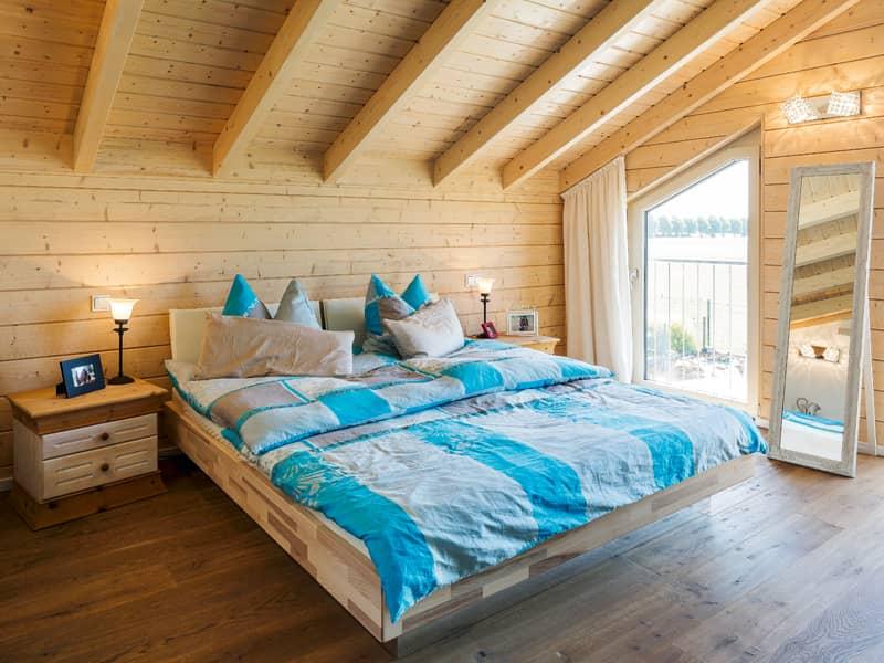 Schlafzimmer Haus Silberweide von Stommel Haus