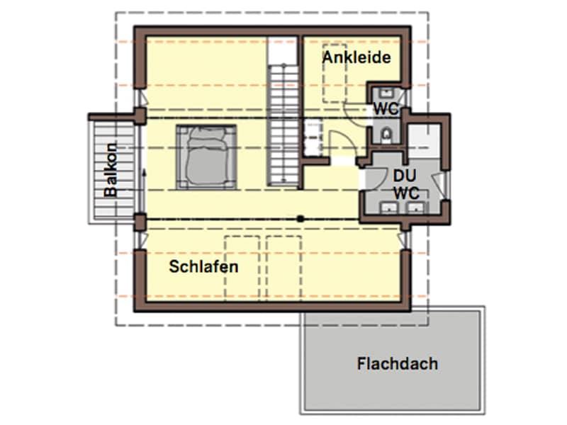 Grundriss Obergeschoss individueller Entwurf von Büdenbender Hausbau