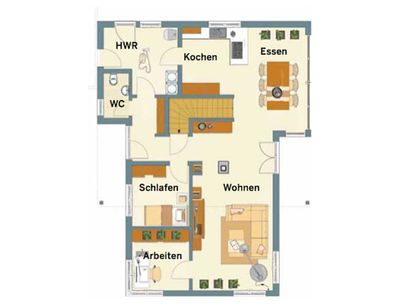 Grundriss Erdgeschoss Entwurf Architektur Trend von Fingerhaus