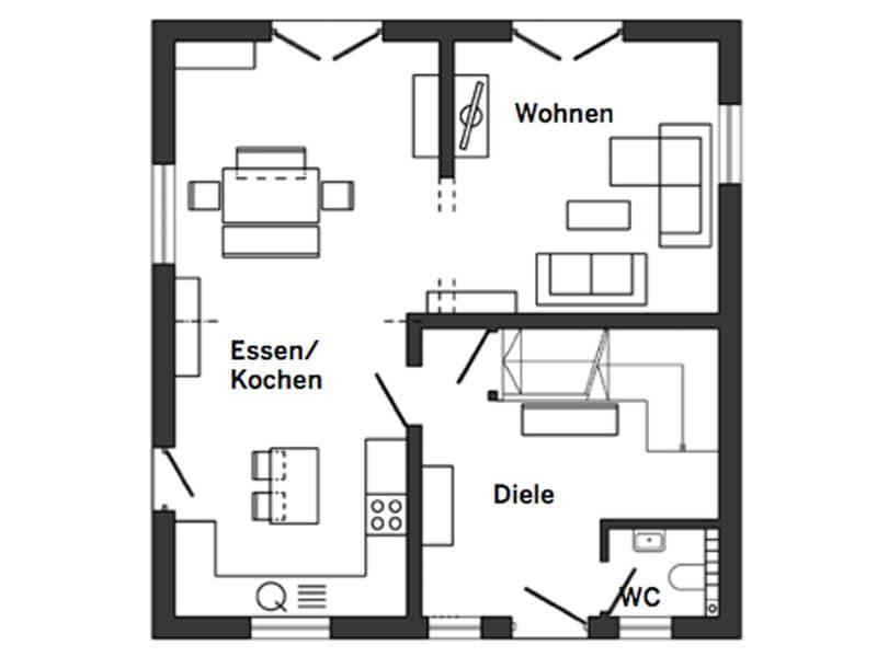 Grundriss Erdgeschoss Entwurf Salvasohn von Schwörer