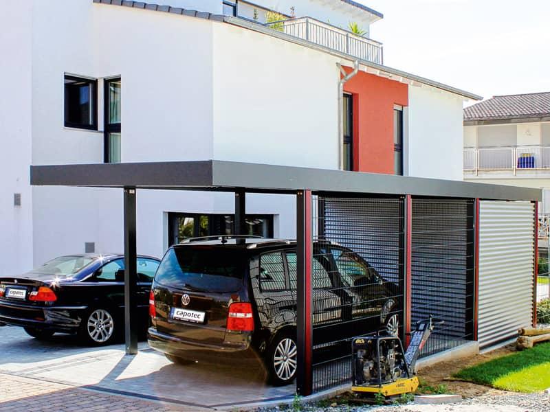 Carport oder garage zuhause