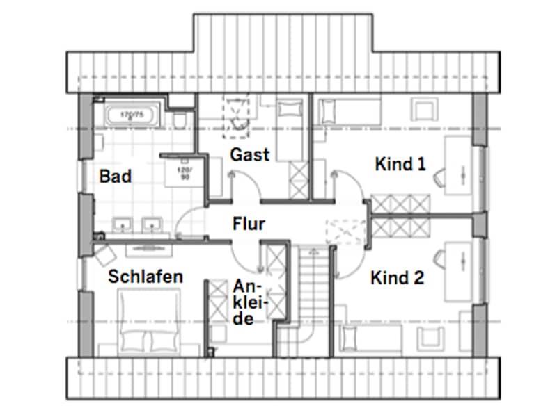 Grundriss Obergeschoss Edition 425 von Viebrockhaus