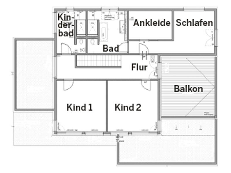 Dachgeschoss Entwurf Wünschmann von Fertighaus Weiss
