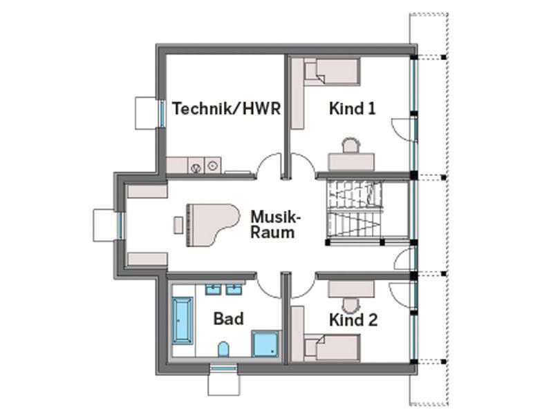 Grundriss Untergeschoss Art 3 von Huf Haus