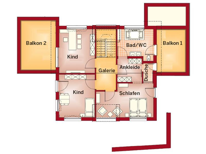 Grundriss Dachgeschoss Concept-M von Bien-Zenker