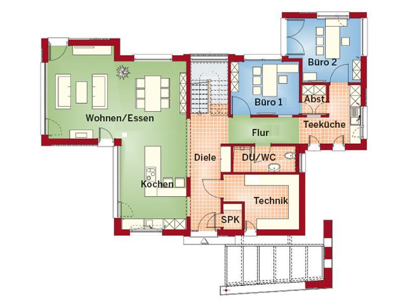 Grundriss Erdgeschoss Concept-M von Bien-Zenker