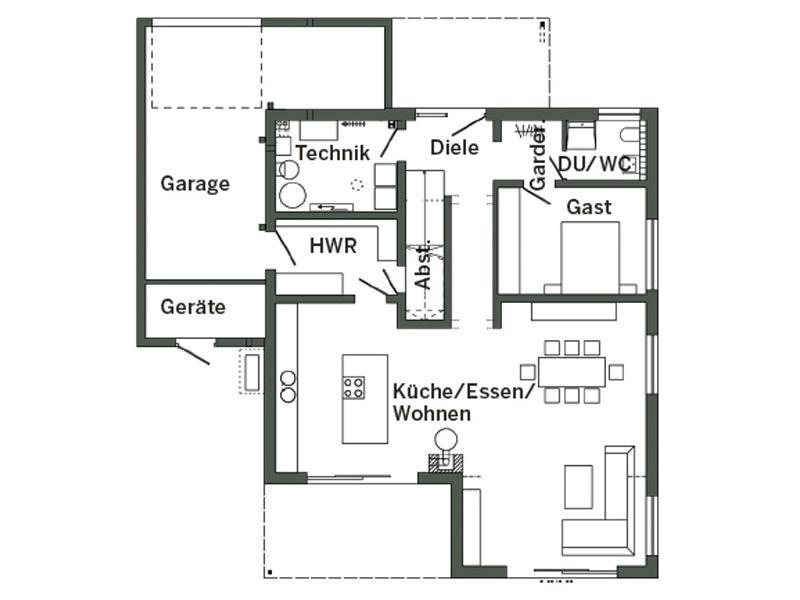 Grundriss Erdgeschoss E 20-175.1 von SchwörerHaus