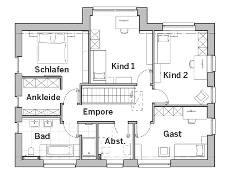 Grundriss Obergeschoss Edition 480 von Viebrockhaus