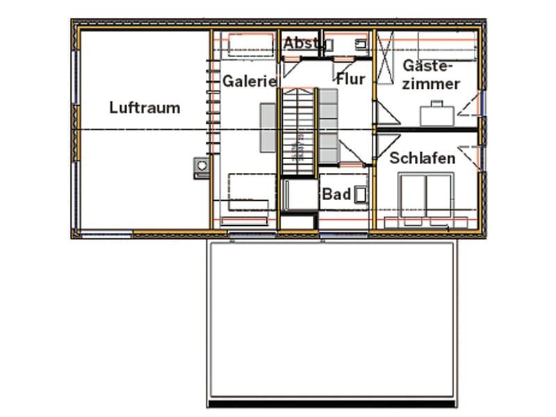 Grundriss Obergeschoss Entwurf Stuttgart von Chiemgauer
