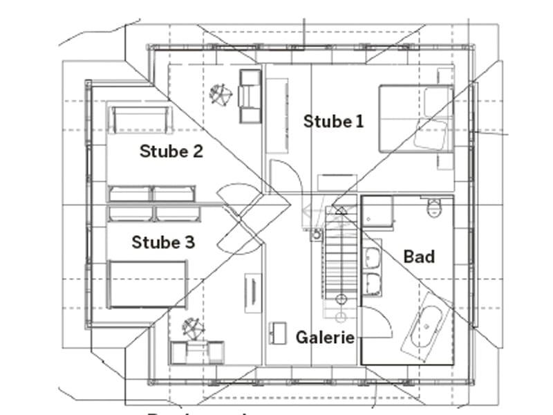 Grundriss Dachgeschoss Entwurf Kerstin vom Planungsbüro Christianus