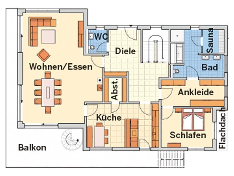 Grundriss Erdgeschoss Entwurf Novum von Fingerhut Haus