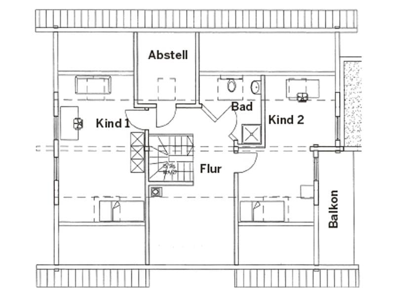 Grundriss Dachgeschoss Entwurf Lüneburg von Fullwood Wohnblockhaus