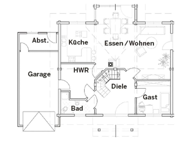 Grundriss Erdgeschoss Entwurf Am Mühlenteich von Fullwood Wohnblockhaus