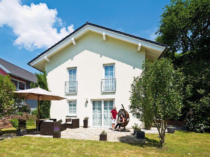 Entwurf Familienhaus von Heinz von Heiden Außenansicht