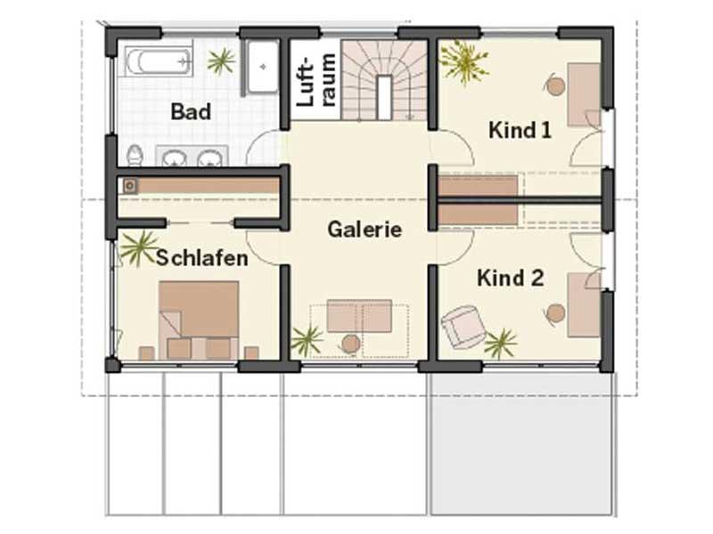 Grundriss Dachgeschoss Musterhaus Brettheim von Keitel-Haus