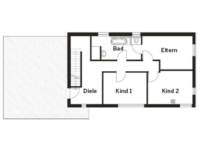 Grundriss Dachgeschoss Entwurf Homestory 322 von Lehner Haus