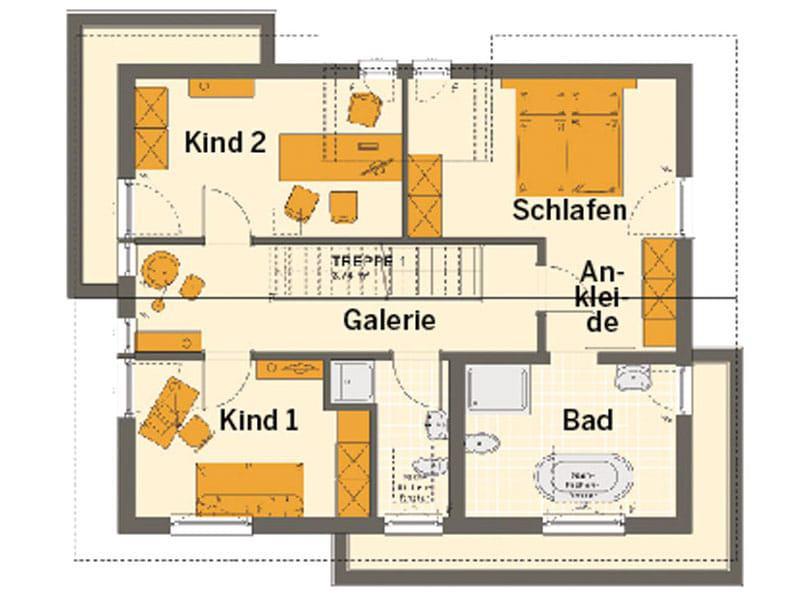Grundriss Dachgeschoss Entwurf Sunshine 144 Poing von Living Haus