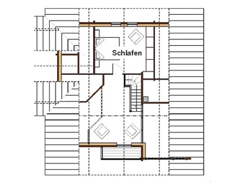 Grundriss Dachgeschoss Entwurf Marie von Rubner Haus