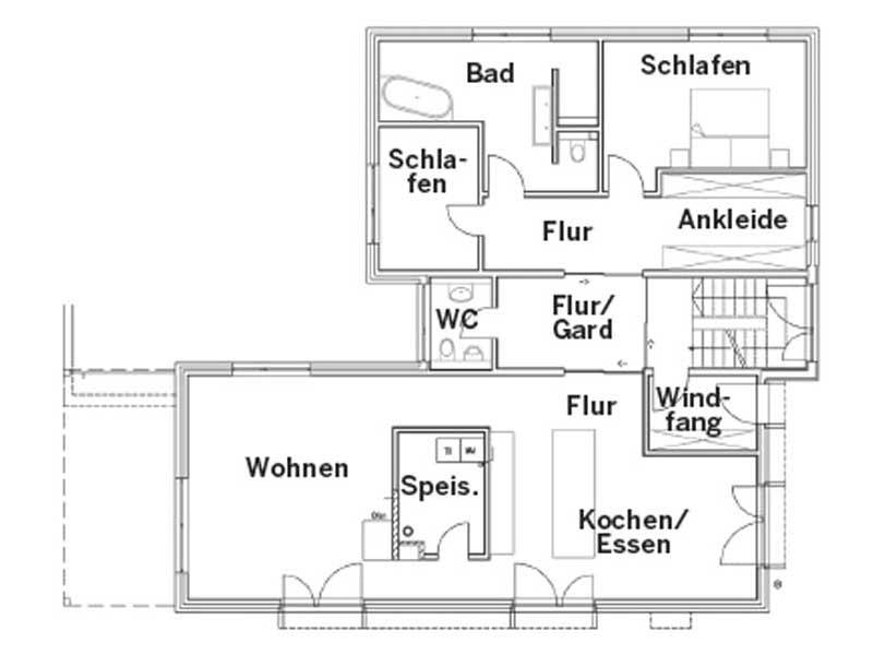 Grundriss Erdgeschoss Entwurf Rodler von Sonnleitner