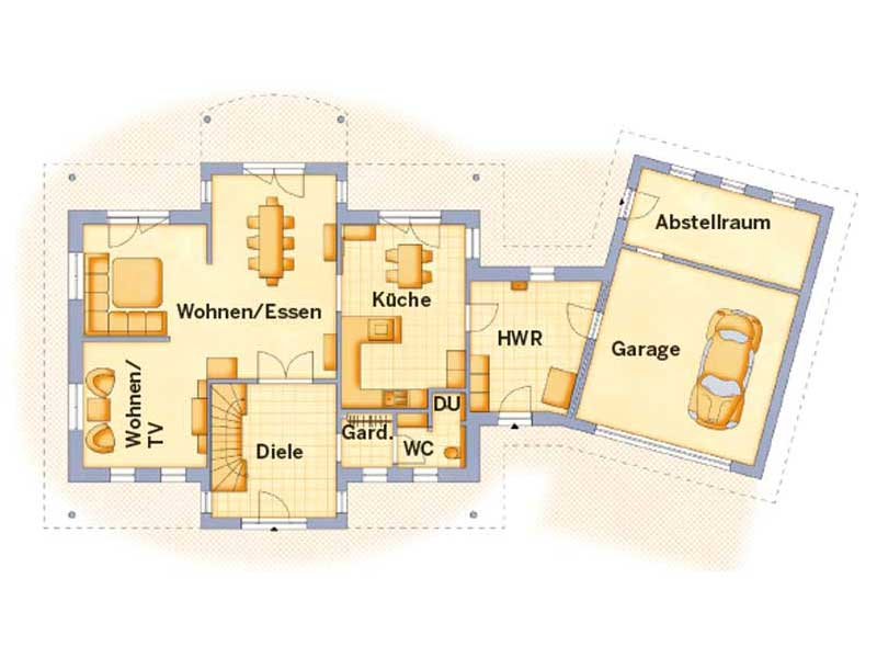 Grundriss Erdgeschoss Entwurf VarioToscana 259 von VarioSelf