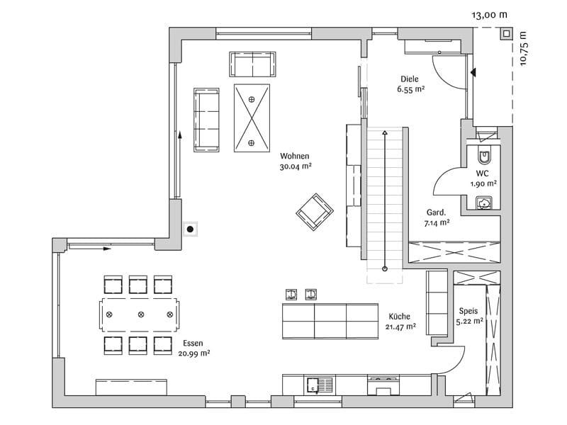 Grundriss_Erdgeschoss_Bauhaus_190_Fischerhaus