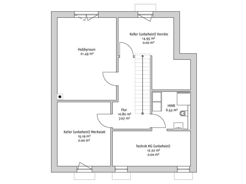 Grundriss_Kellergeschoss_Bauhaus_190_Fischerhaus