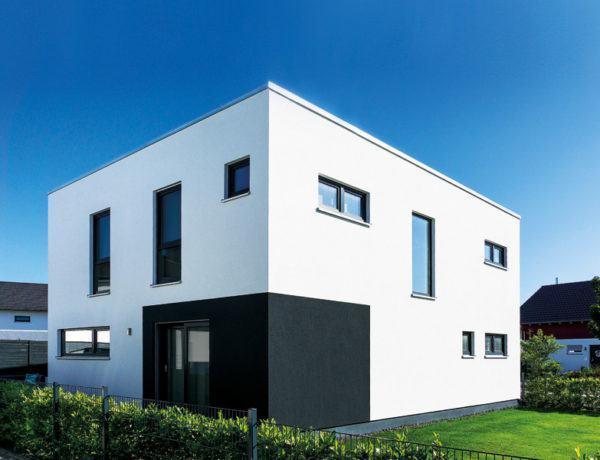 frei geplantes Kundenhaus NEO von FingerHaus Außenansicht