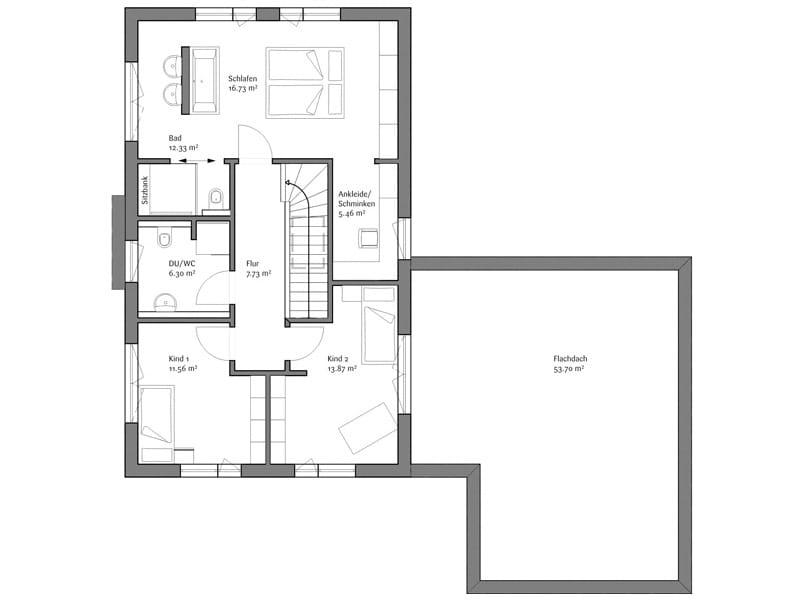 Grundriss Obergeschoss LaRocca