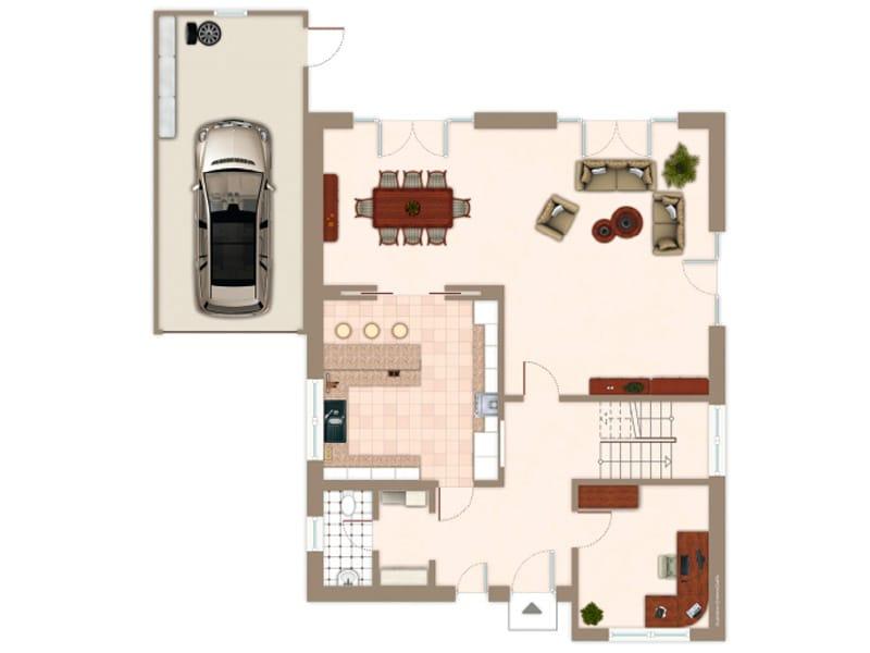 Grundriss Erdgeschoss Entwurf Lido von Gussek Haus