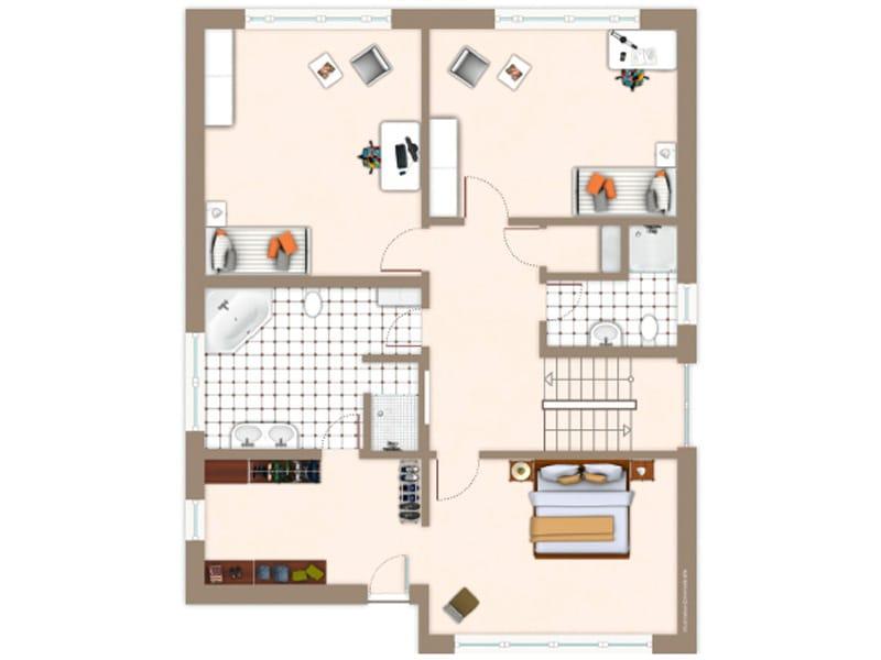 Grundriss Obergeschoss Entwurf Lido von Gussek Haus