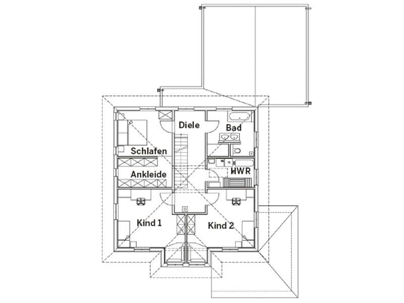 Grundriss Dachgeschoss Entwurf Stefani von Sonnleitner