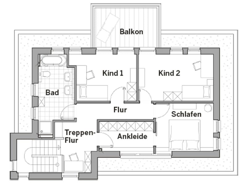 Grundriss Obergeschoss Edition Style City 2000 von Viebrockhaus
