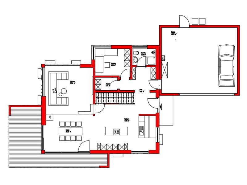 Erdgeschoss Entwurf Dornhan von Kitzlingerhaus