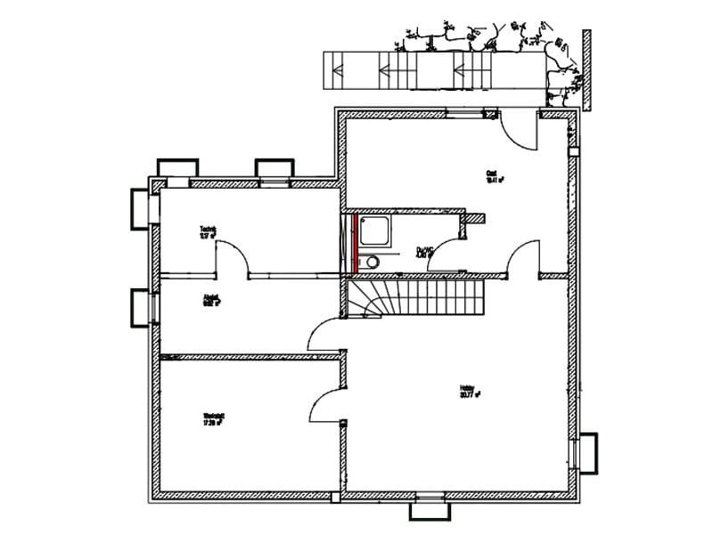 Untergeschoss Entwurf Dornhan von Kitzlingerhaus