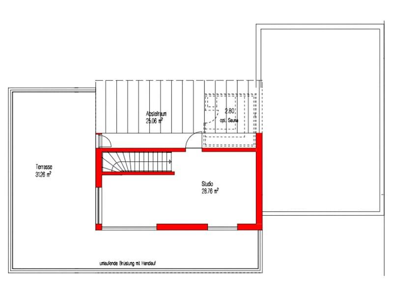 Grundriss Dachgeschoss Kundenhaus Empfingen von Kitzlingerhaus