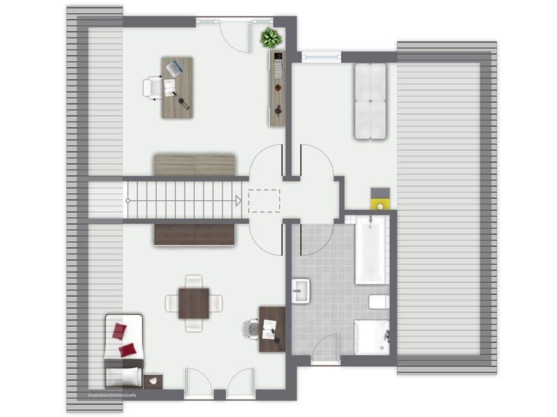 Grundriss Dachgeschoss Entwurf Besso von Gussek Haus