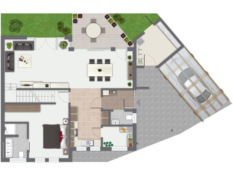 Grundriss Erdgeschoss Entwurf Besso von Gussek Haus