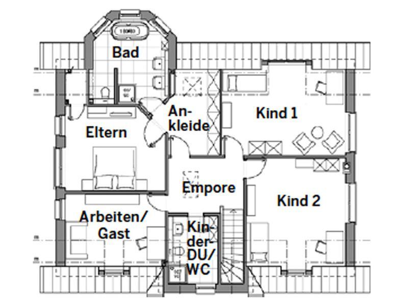 Grundriss Obergeschoss Edition 700 von Viebrockhaus