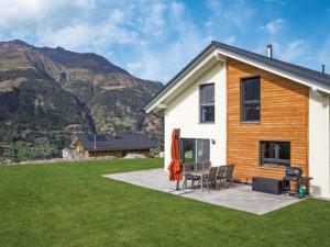 Entwurf Bueeler von Weber Haus Terrassenansicht