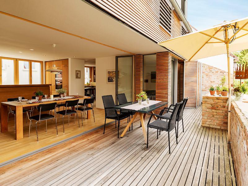 Entwurf Witt von Baufritz Terrasse