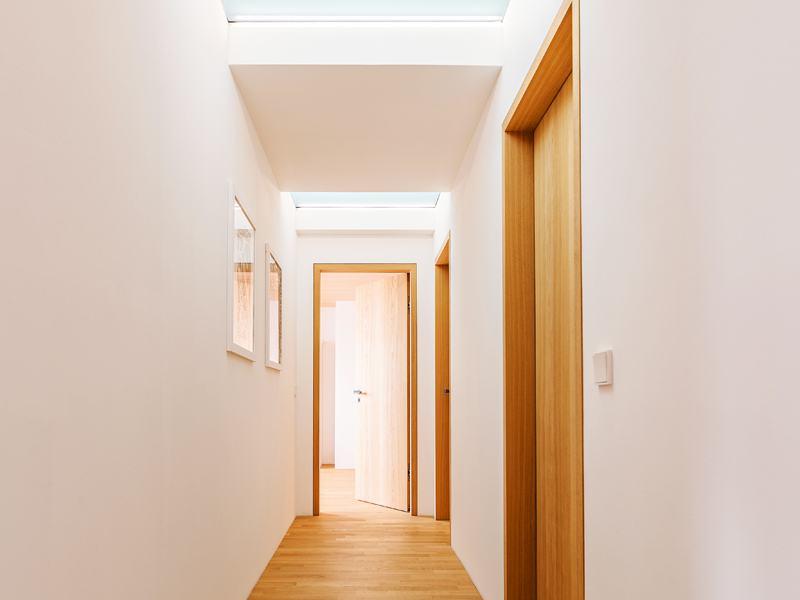 Entwurf Witt von Baufritz Dachgeschossflur