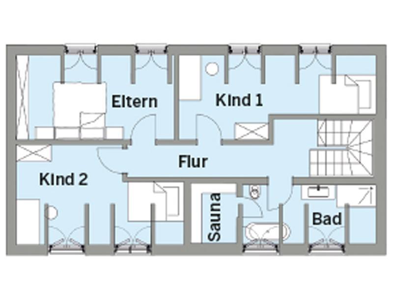 Grundriss Dachgeschoss Entwurf Witt von Baufritz