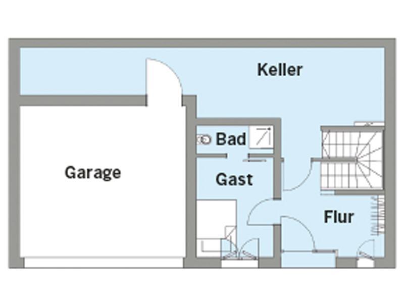 Grundriss Erdgeschoss Entwurf Witt von Baufritz