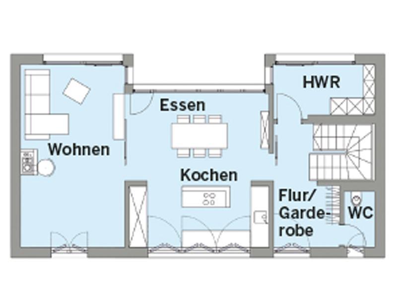 Grundriss Obergeschoss Entwurf Witt von Baufritz
