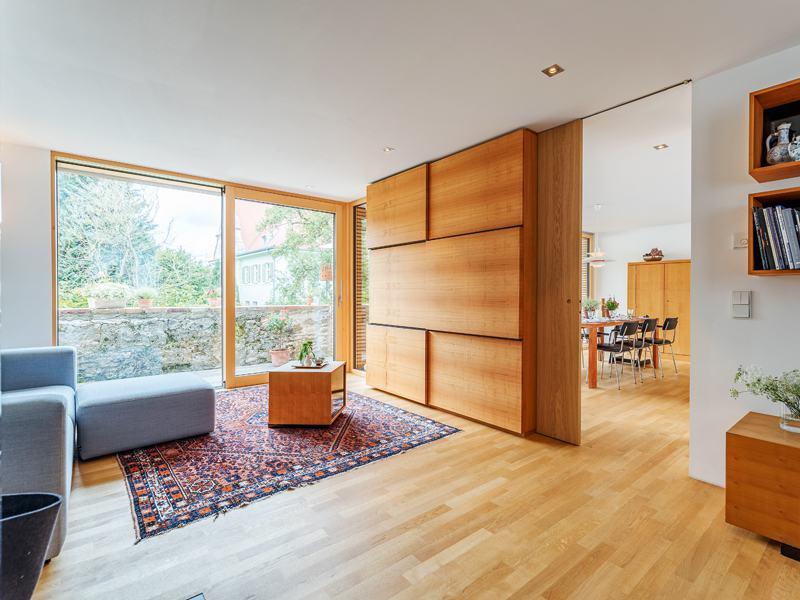 Entwurf Witt von Baufritz Wohnbereich